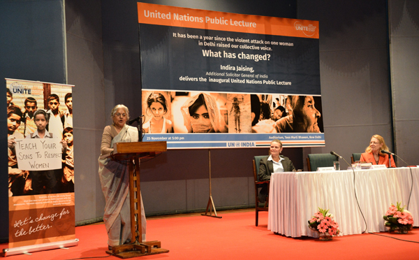 Impunity and Immunity in Cases of Violence Against Women Continue to be the Norm, says Indira Jaising, India's Additional Solicitor General