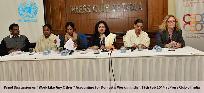 A panel discussion on 'Work like any other? Accounting for domestic work in India'
