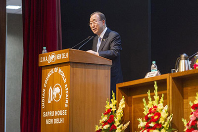 Thirteenth Sapru House UN Lecture by Mr. Ban Ki-moon, United Nations Secretary-General, 12 January 2015