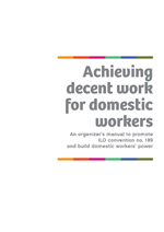 Achieving Decent Work for Domestic Workers