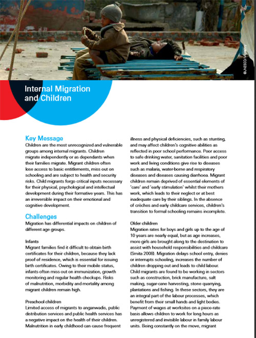 Internal Migration and Children