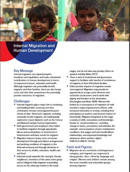 Internal Migration and Human Development