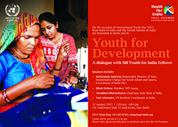 Celebrating International Youth Day with a dialogue on Youth for Development