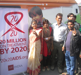 Showing remarkable commitment towards ending the AIDS epidemic, the Mayor of East Delhi, Meenakshi Suryavanshi, underwent voluntary testing for HIV in a testing camp in her constituency