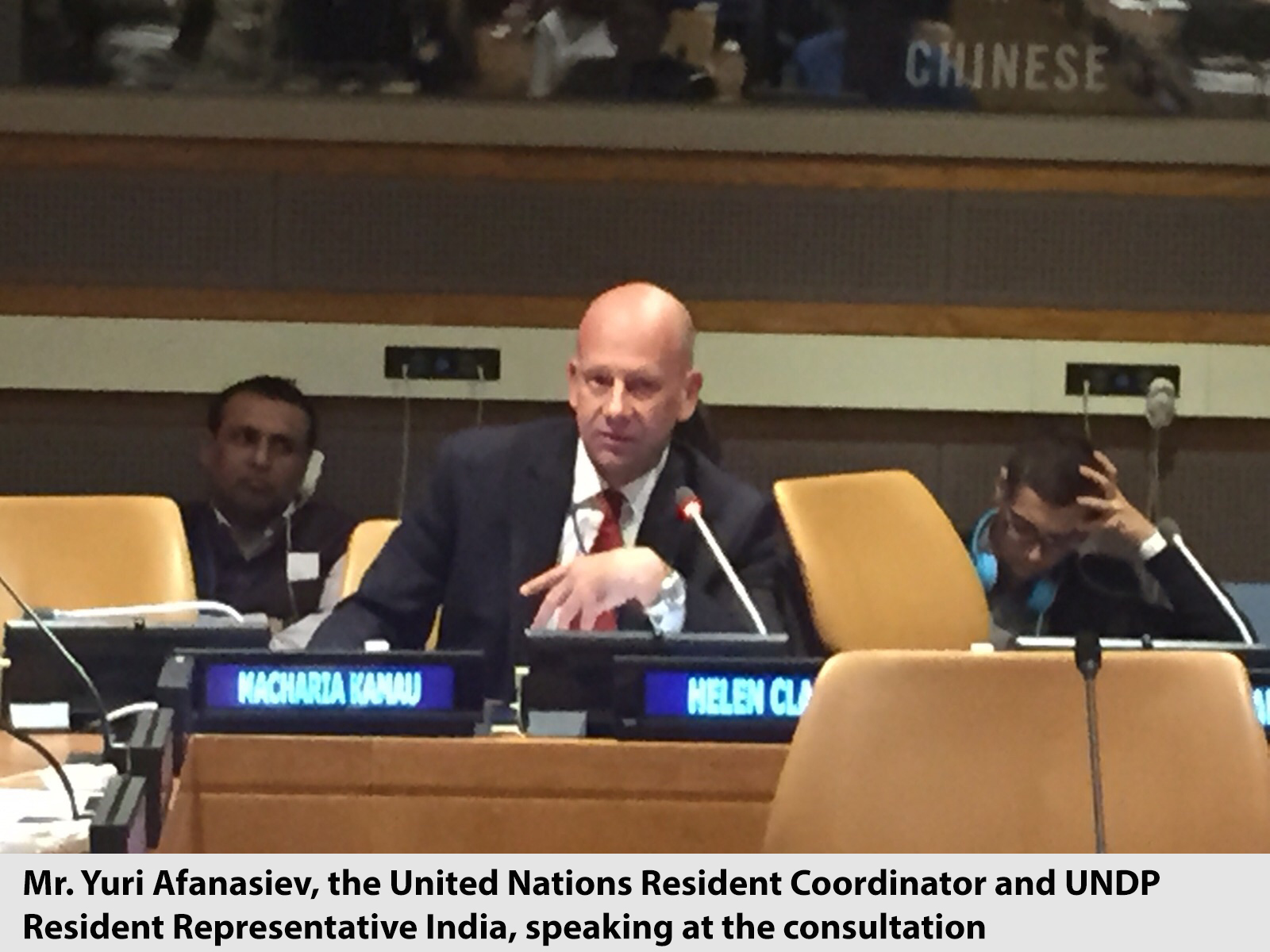 Mr. Yuri Afanasiev, the United Nations Resident Coordinator and UNDP Resident Representative India, speaking at the consultation