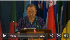 Ban Ki-moon, (Secretary-General of the United Nations), Opening of the SIDS Conference