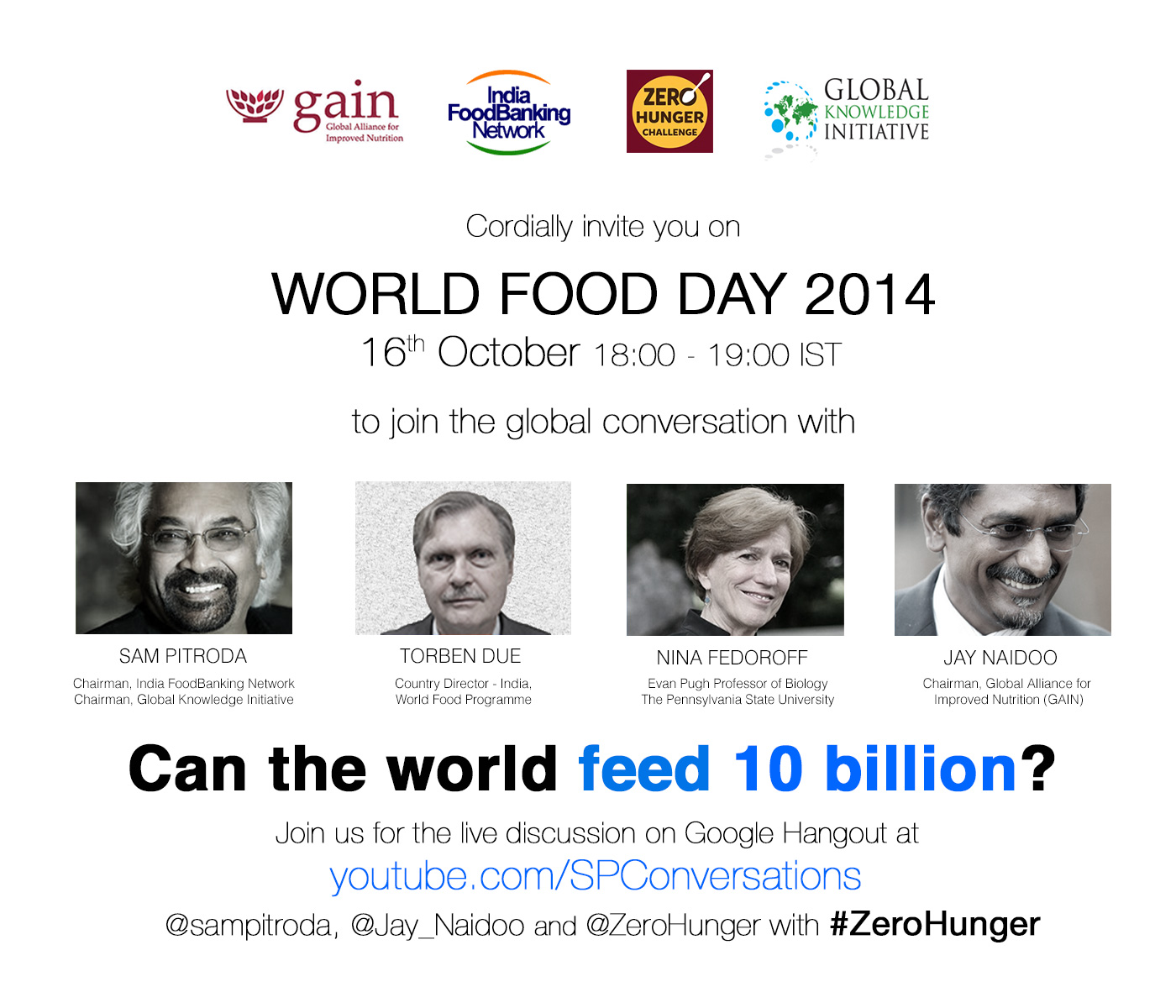 Google Hangout - World Food Day 2014