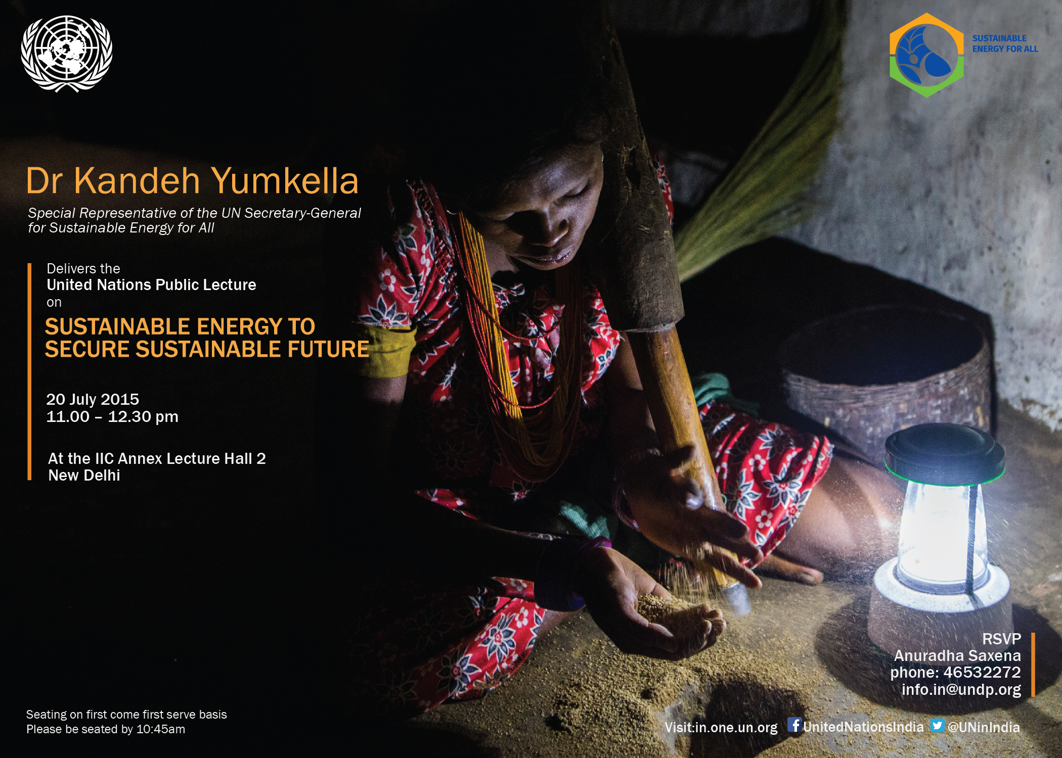 UN Public Lecture on Sustainable Energy to Secure Sustainable Future