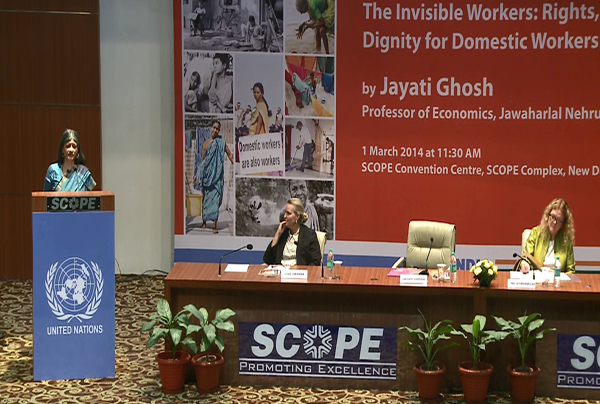UN Public Lecture on 'The Invisible Workers: Rights, Justice and Dignity for Domestic Workers', 01 March 2014