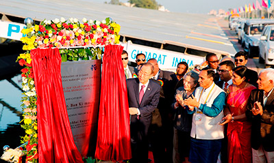 UN Secretary-General's remarks at 10MW Canal Top Solar Power Plant in Gujarat India, 11 January 2015