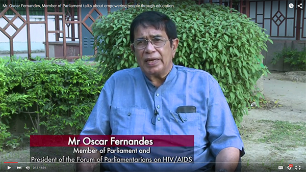 Mr. Oscar Fernandes, Member of Parliament talks about empowering people through education