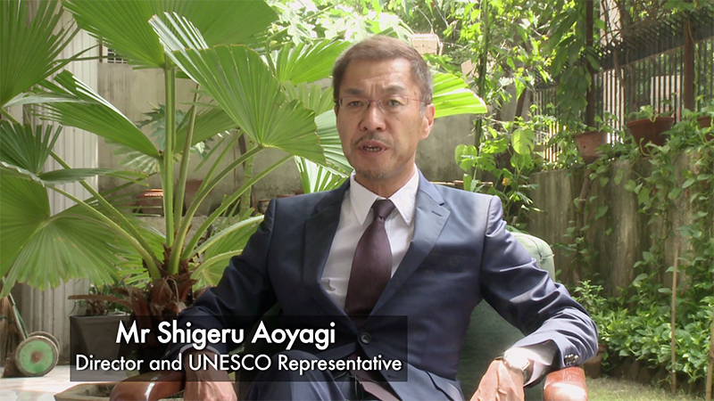 Mr Shigeru Aoyagi, Director and UNESCO Representative to Bhutan, India, Maldives and Sri Lanka
