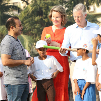 Belgian royalty and cricketer Virender Sehwag team up for child rights